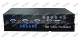 高清四路HDMI/VGA画面分割器 USB键鼠控制 电脑叠加合