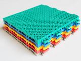 室外防滑耐磨哑光双层悬浮式塑胶拼装地板 奥宝龙磨砂双层悬浮式拼装地板 防滑悬浮拼装式塑胶运动地板