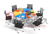 PJZ-SJX多动能拼接桌用于学校会议室