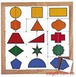單色形狀分類拼圖