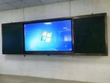 100寸交互式智能触摸电子白板带黑板的100寸显示屏教学一体机