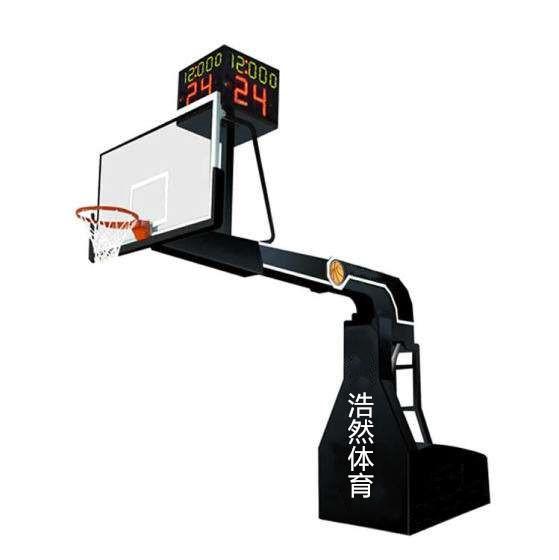 超豪华电动液压篮球架多少钱