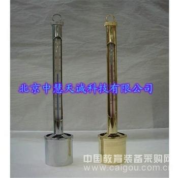 内标式玻璃温度计/深水温度计 型号:HW54-S