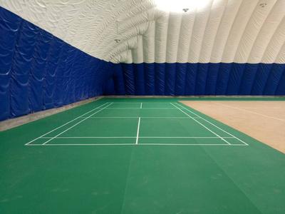 浩康运动地板装点的气膜体育馆