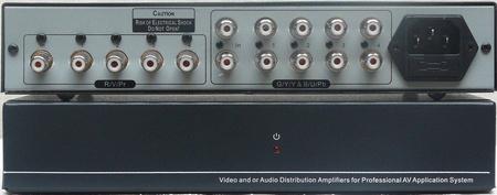 HDTV分量视频1分4(1进4出色差分配器)
