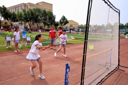 翰云体育承办通州区首届小学生网球赛 首创全员参与网球赛事