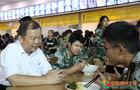 懷化學院黨委書記劉望走訪調研學生食堂