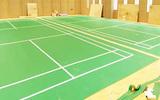 防城港PVC地板耐磨防滑弹性好沙粒纹乒乓球羽毛球专用地板