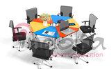 PJZ-SJX多動能拼接桌用于學校會議室