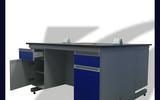 广州科玮实验台 钢木中央台 操作台 实验室家具厂家直销