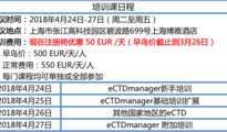 eCTD格式电子申报研讨会及培训邀请函