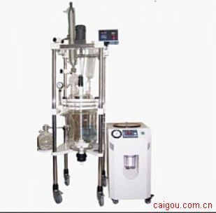 生产型双层玻璃反应釜/玻璃反应器