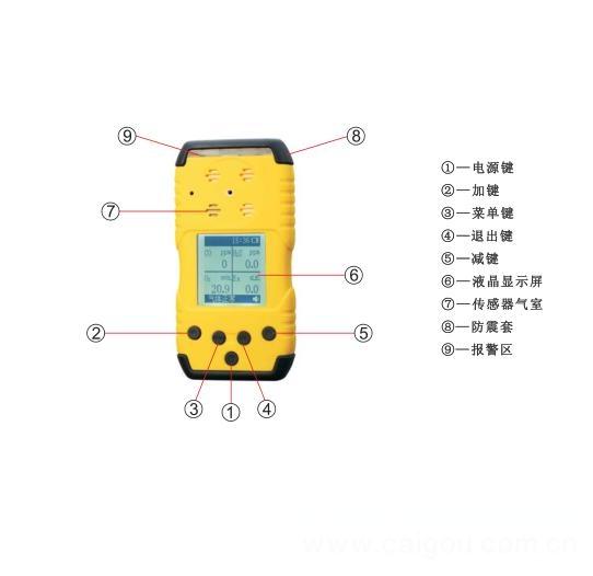 高低二级报警手持式氮气检测仪