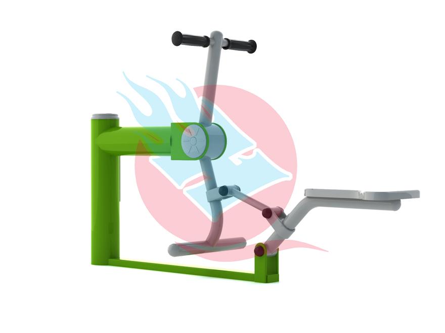 乾宏體育供應三亞單人健騎機坐蹬訓練器小區健身器材室外健身器材