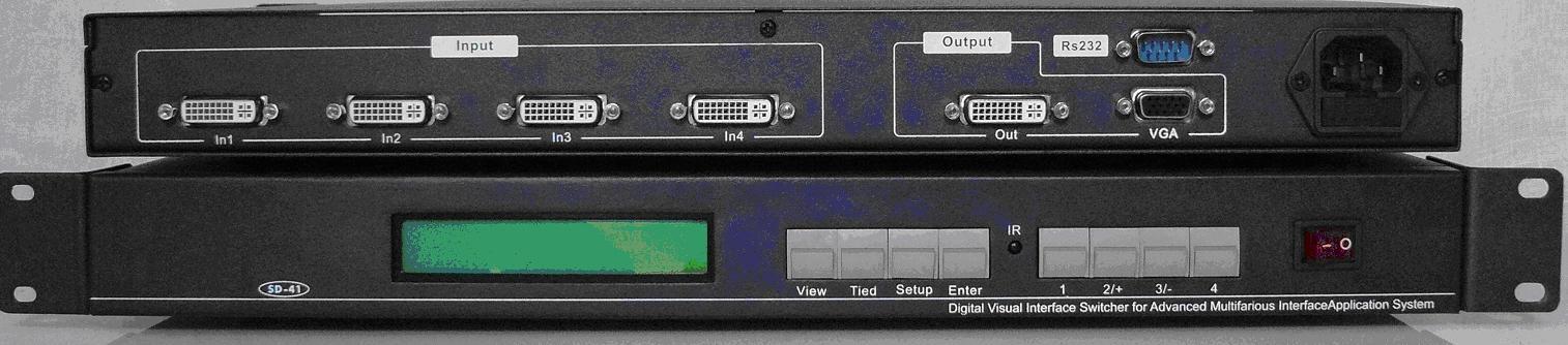 均衡型DVI 四选一DVI切换器