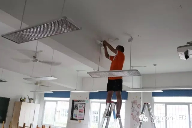 厦门实验小学集美分校LED教室灯、黑板灯改造
