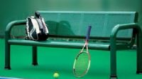 戶外休閑椅網球場羽毛球場休息椅