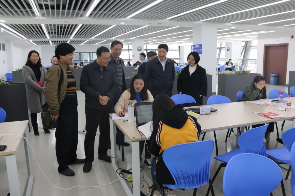 贵州师范大学副校长罗永祥到图书馆调研